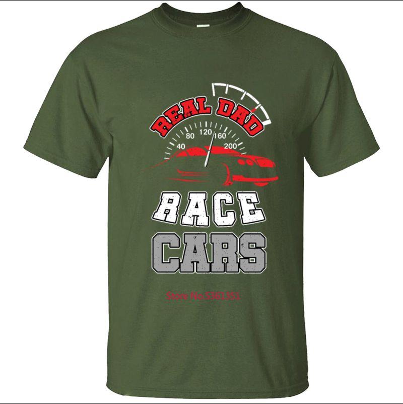 Femininos Man alta qualidade verdadeiro pai Race Cars T-shirt camiseta do Simple Men Camiseta Algodão Verão Hiphop Camisetas Hombre
