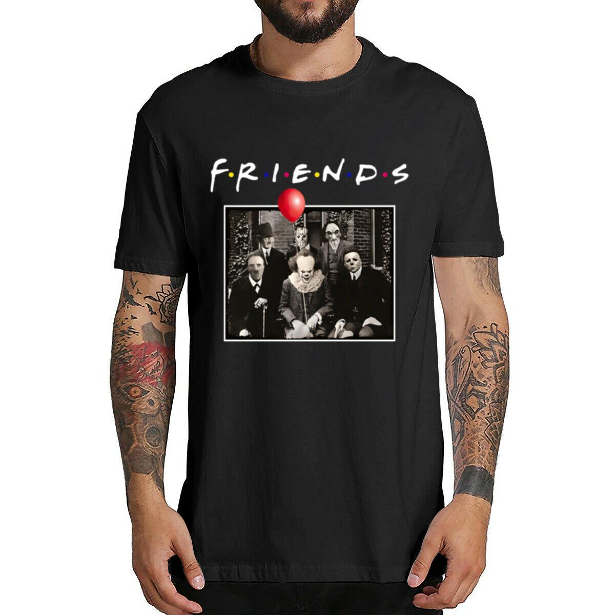 Horreur amis Pennywise Michael Myers Jason Voorhees Halloween hommes T-shirt Top coton à manches courtes T-shirt Camiseta Masculina