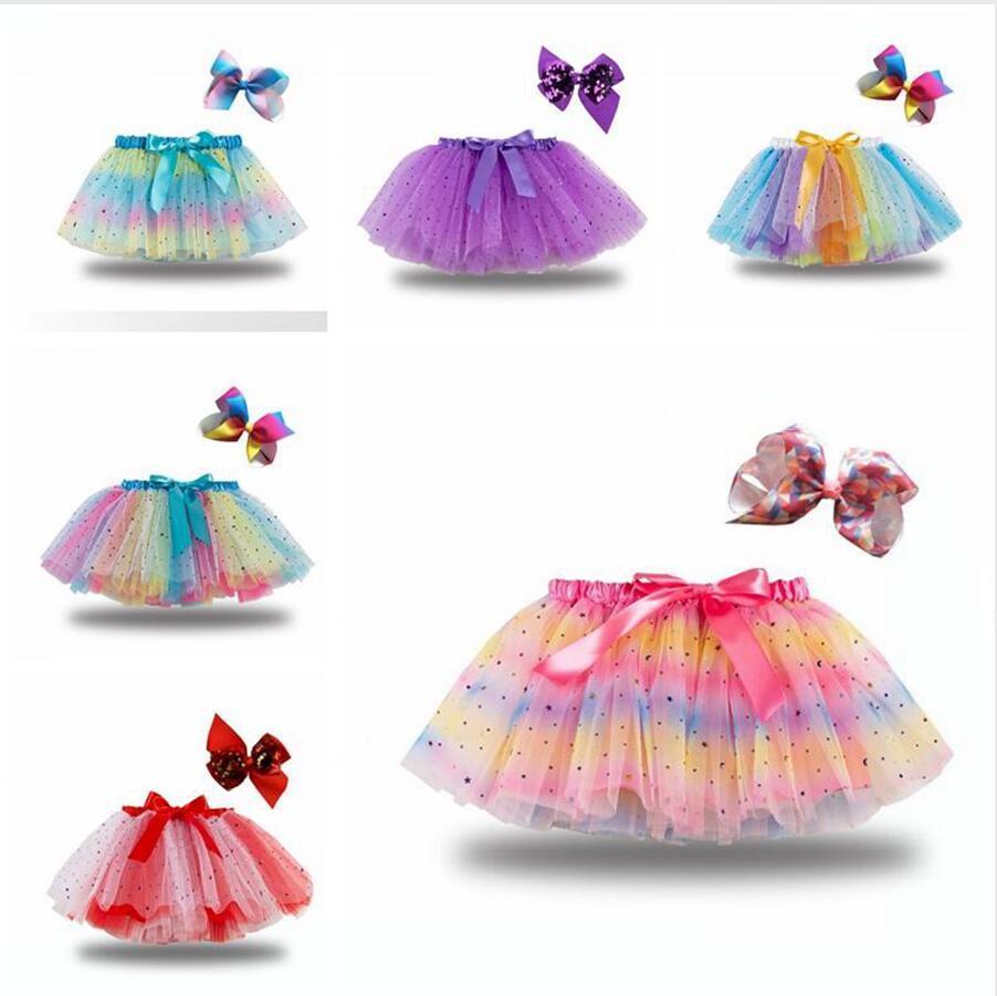 Tutu Skirt Kids Girl Dress Stars Sequins Princess Skirts Ballet Fashion Clothing
