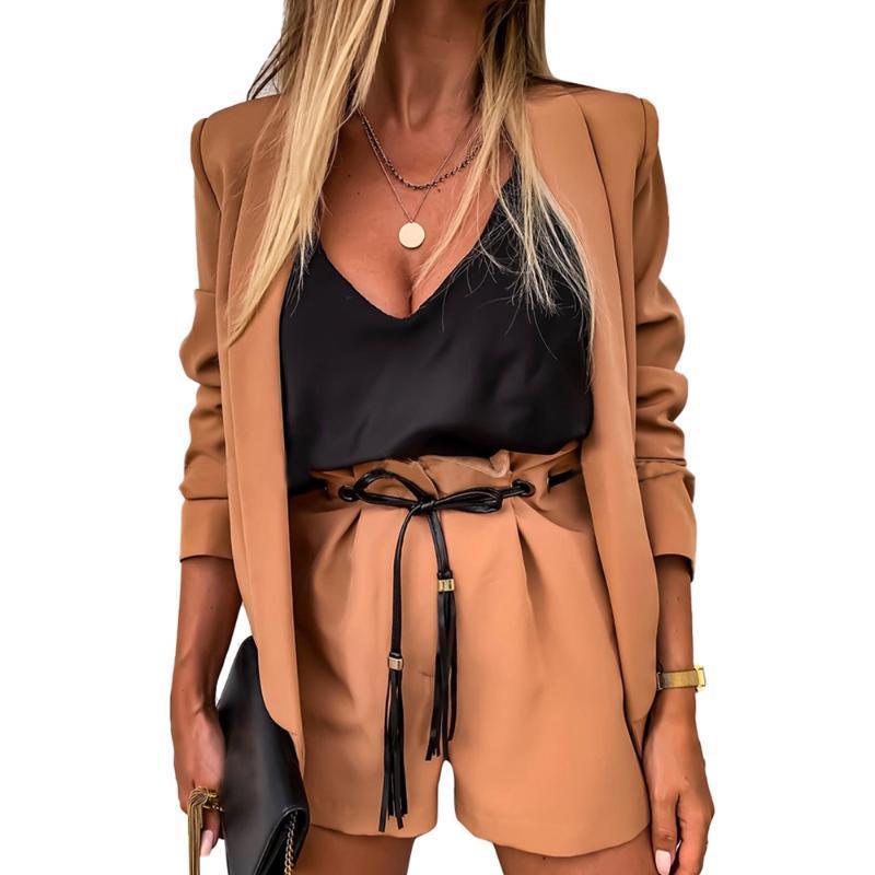 Venda Mulheres curto Verão Casual alta cintura solta Shorts Feminino Lace Up bolso Sólidos Pants Wide Color Perna curta para meninas macia D30