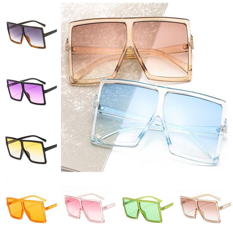 Moda Kadın Erkek Güneş Gözlüğü Kare Güneş Gözlükleri Gözlük Anti-UV Gözlükler Boy Çerçeve Gözlükler OrnamTA A ++