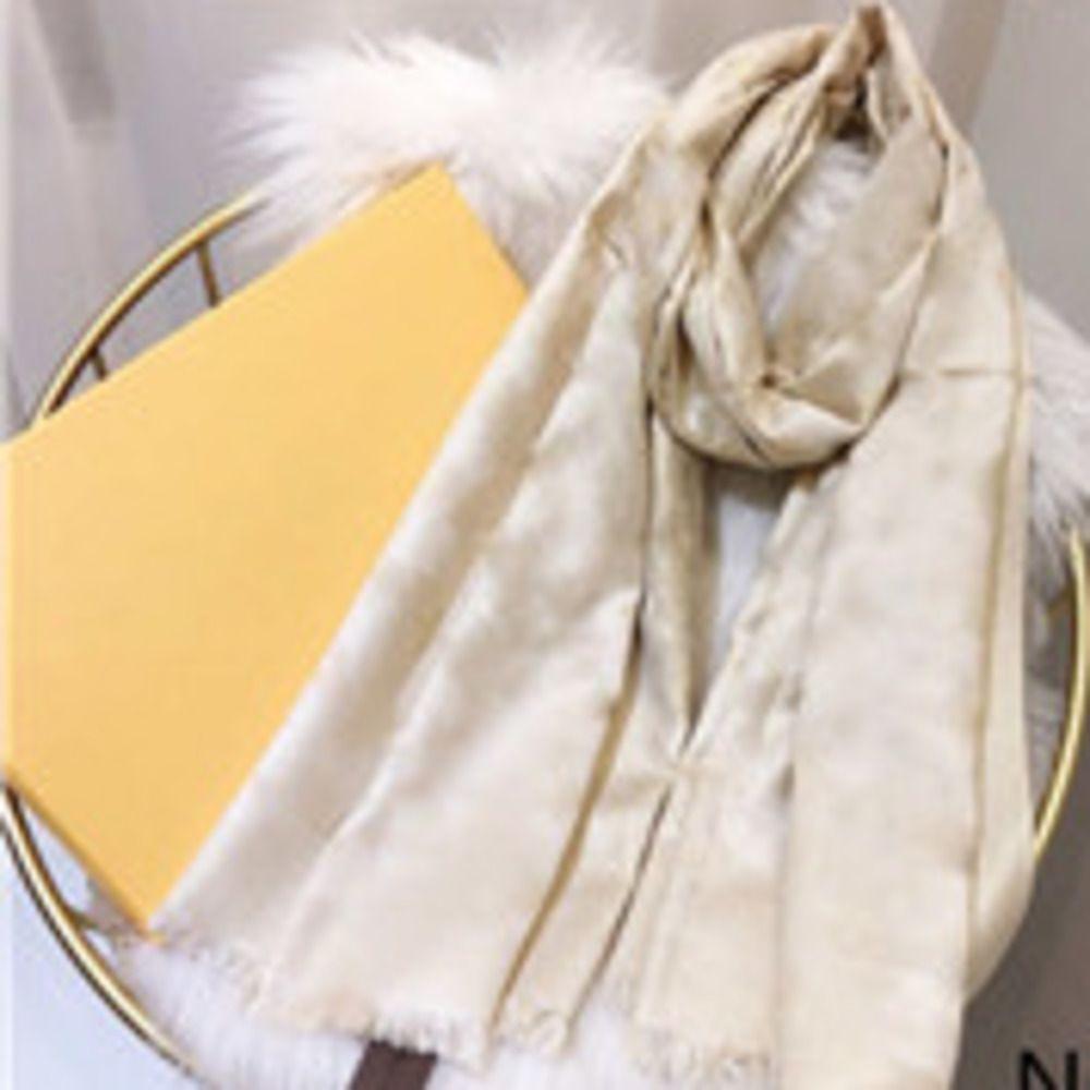 Cachecol de seda 4 estações pashmina lenço folha trevo moda mulher xale lenços tamanho cerca de 180x70cm 7color com embalagem de presente opcional