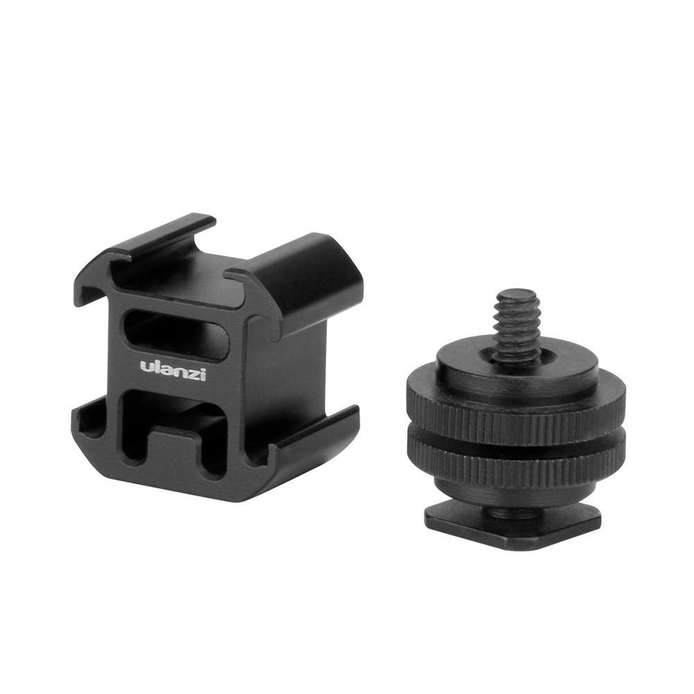 3 Cold Shoe On-Camera Mount Adapter Extend Port for Canon Nikon Pentax DSLR Camera for Microphone Monitor LED Video Light