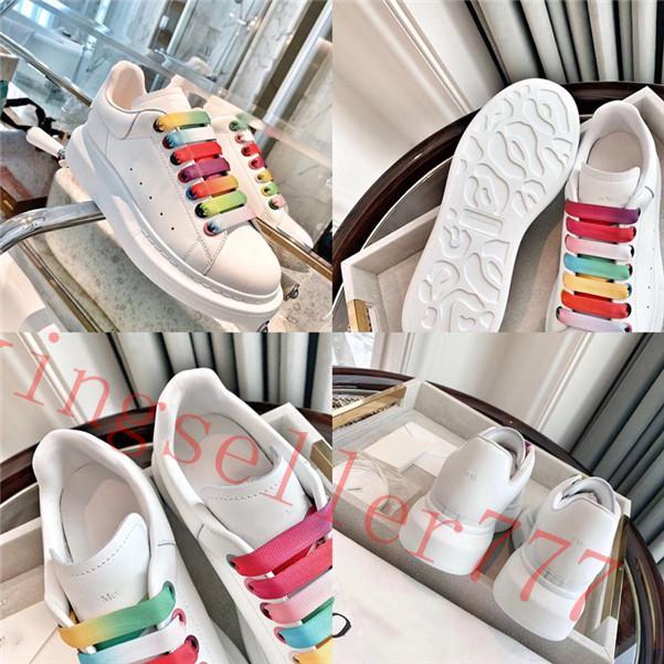 2020 Vintage Platformu Siyah Rahat Ayakkabılar Lace Up Konfor Pretty Kız Kadın Sneakers Rahat Deri Ayakkabı Erkekler Bayan Beyaz Şerit Sneaker