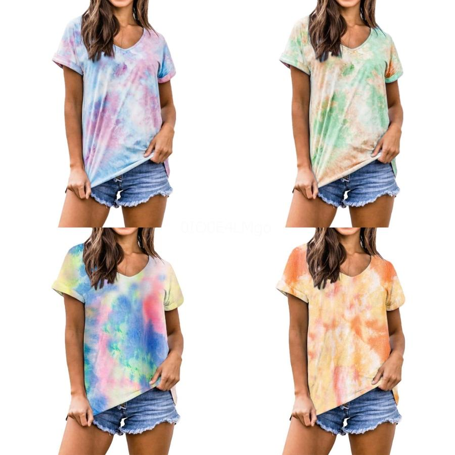 Оптово Feitong Футболки женские рубашки моды больше проблем, чем Vogue Письма печати Хлопок Повседневная рубашка Топы Тис Рубашки Femme Plus Size # 257