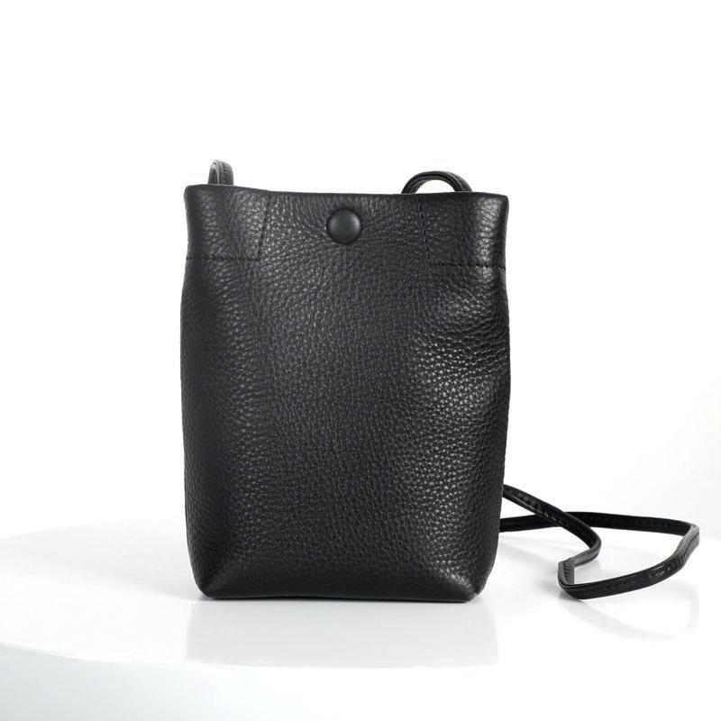 WOONAM Frauen beiläufige Art und Weise Handtasche Top Layer echtes Kalbsleder Klein-Telefon-Halter-Schulter Crossbody-Tasche BG3009