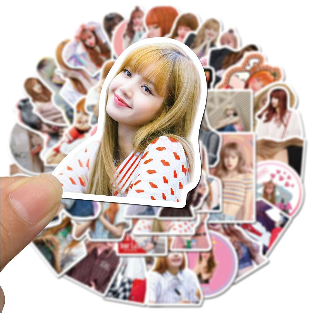 New Kpop Blackpink Lisa Small Waterproof Stickers Gift For Guitar Laptop Travel Case Skateboard Stickers For The Wall Stickers For Wall From Victoriaport 0 81 Dhgate Com