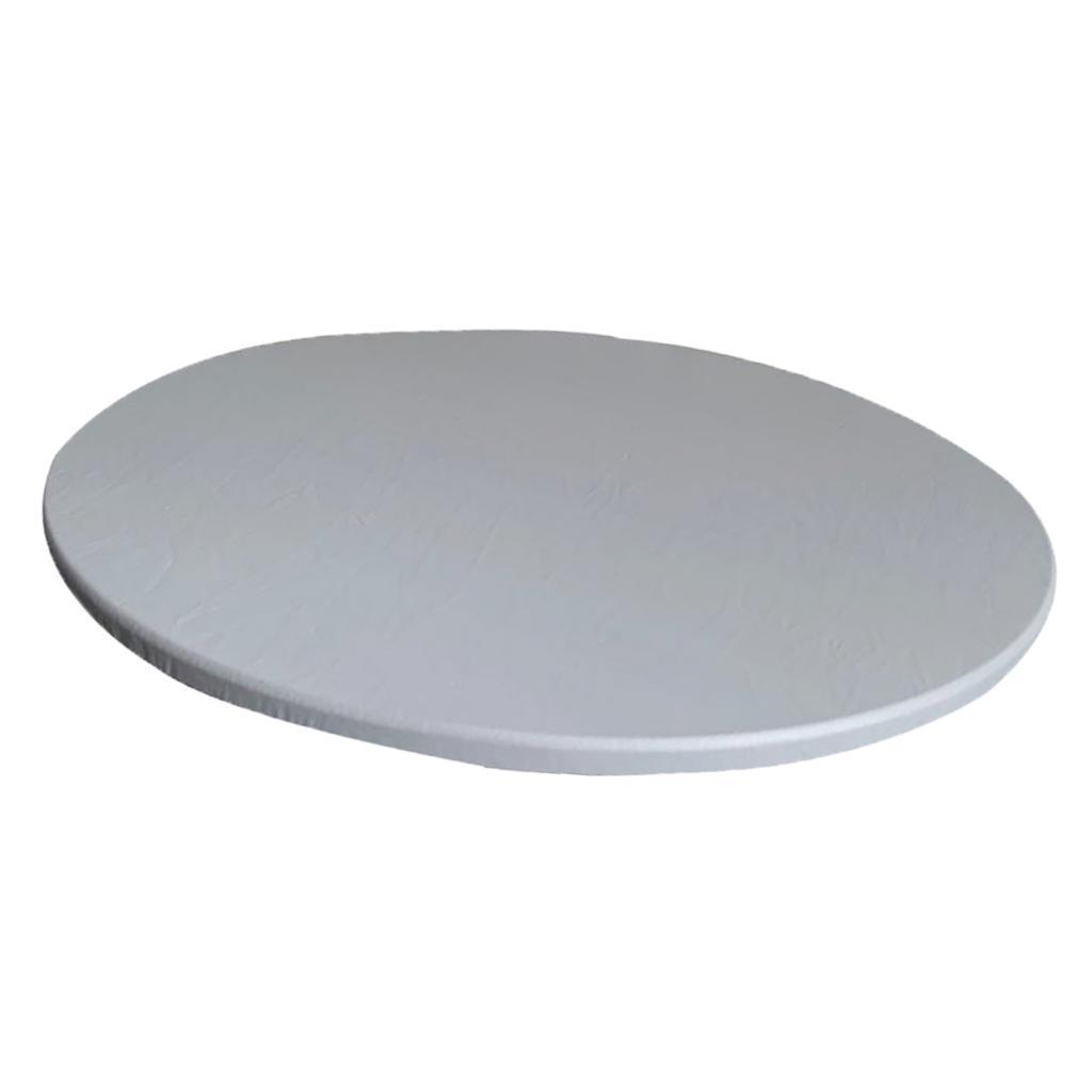 Table solide Couleur Tissu élastique Bord Aménagée Polyester Housse de table jusqu'à 90 cm Diamètre