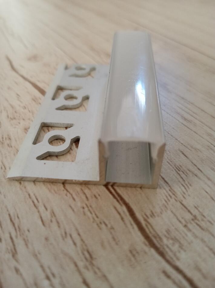 Envío gratuito nuevo estilo Yeso LED empotrado esquina de aluminio Perfil Perfil Drywall Monte prima del aluminio