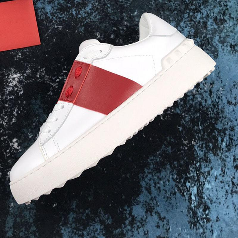 With Box  2019 Mode Femmes Hommes Designer Luxury Designer Shoes Marque cuir Patchwork Dress Trendy Chaussures de sport Chaussures Casual