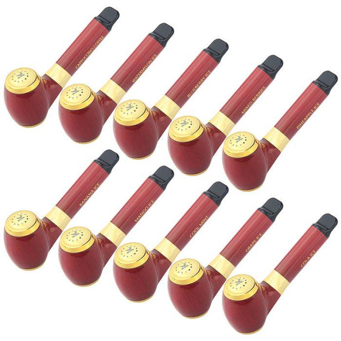 1000 Puffs E Pipe Plus Disposable Vape Pen Battery 850mAh 4ml Pods Pre-Filled 6% Nic E Juice Pods Posh Plus