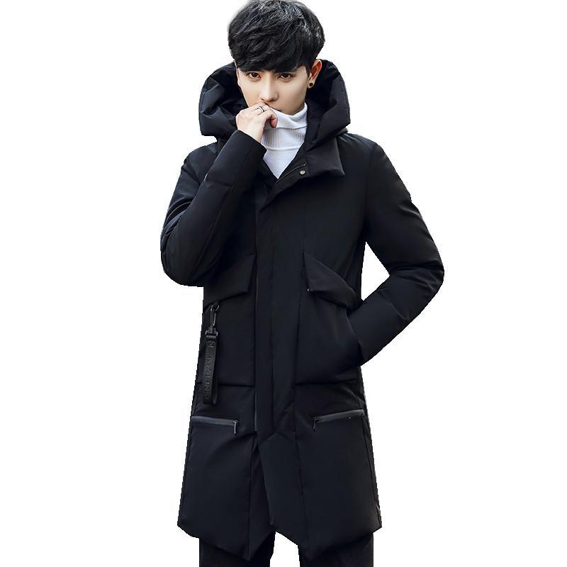 Acacia Person neueste Männer-Winter-warme Jacke mit Kapuze Massiv Overcoat Thick Mäntel Outwear Kleidung Männer Parkas Mode Top
