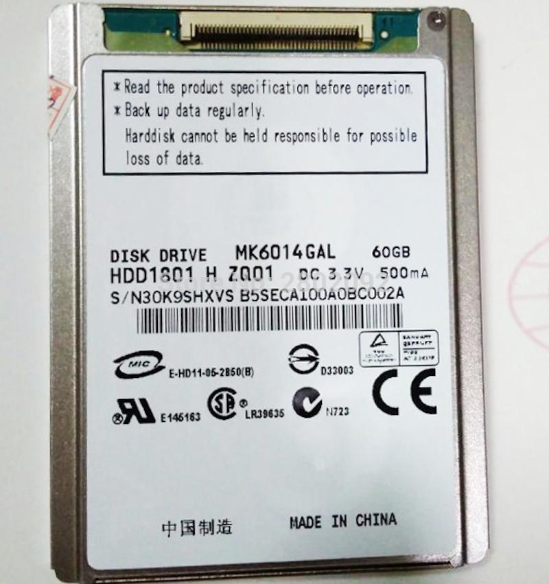 """new mk6034gal 1.8"""" ce 60GB HDD FOR sony handy camera dv xr150e sr68e sr47e sr45e sr65e xr100e sr200e sr300e"""
