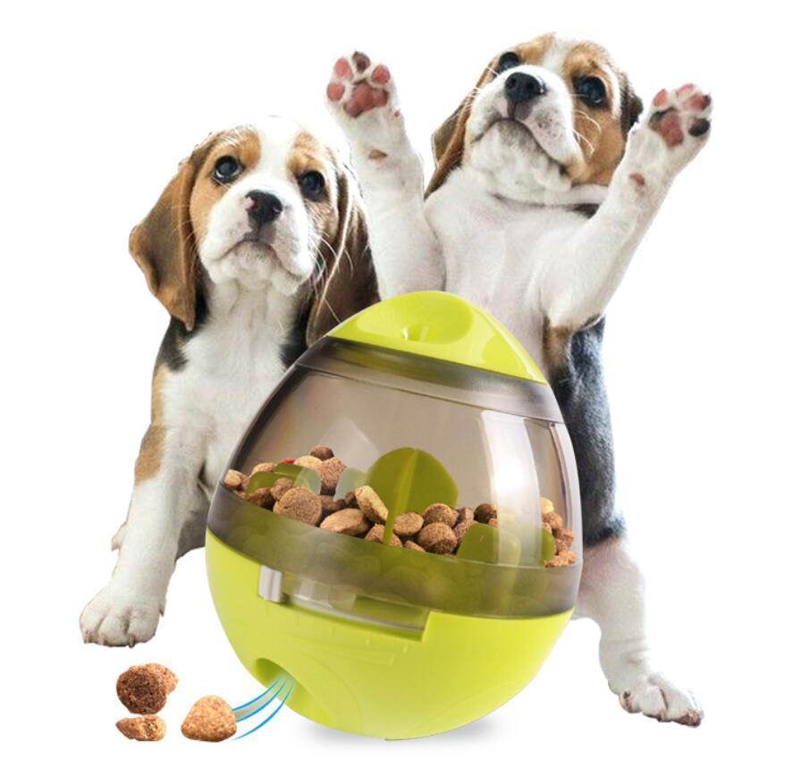 Interaktives Hundespielzeug IQ-Nahrungsmittelkugel-Spielzeug Smarter Essen Hunde Treat Dispenser für Hunde, Katzen, Spiele Training Haustiere Versorgung DHL