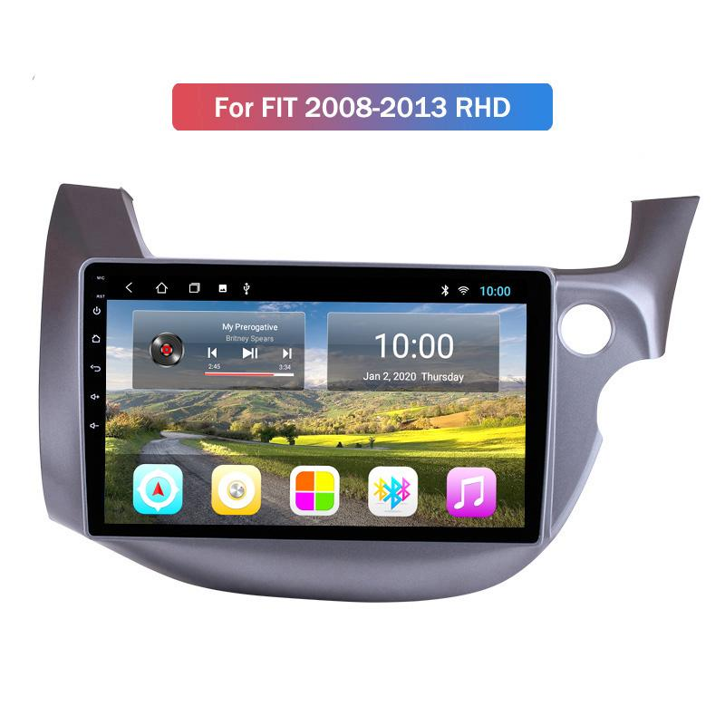 Android 10 for Honda FIT 2008-2013 RHD Car Radio 2-din Android Gps With Bluetooth GPS Mirror Link