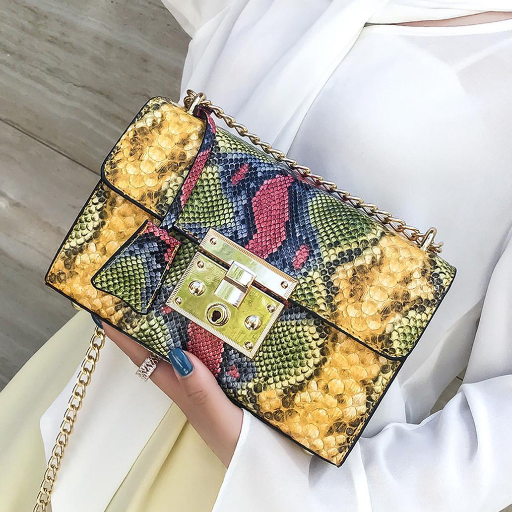 Borse Donna Serpentine Borse del progettista dell'unità di elaborazione di spalla delle donne Bag Small Flap Crossbody Borse per le donne Messenger Bag Borsa 5%
