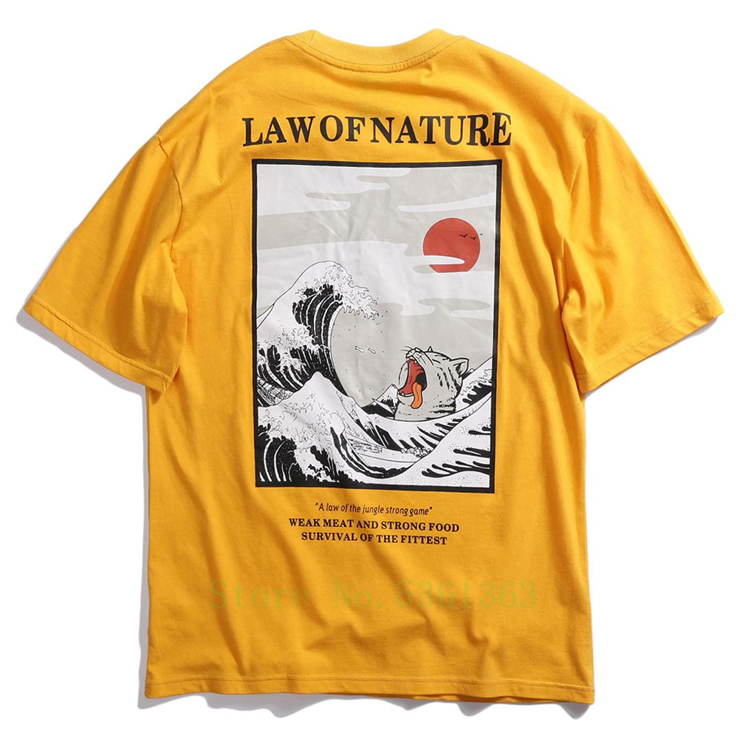2019 Spring Summer t shirt Men Women short sleeve Cotton casual Streetwear Hawaii T-shirts Scenery hip hop Print