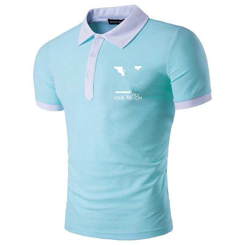 New Polo Shirt Estate Uomo di alta qualità Polos Manica corta estate Casual Cotton Mens Polo Shirts Dimensioni M-3XL