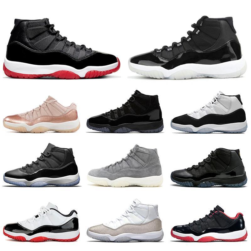 Nike Air Jordan 11 Retro Hommes Femmes Chaussures de basket-ball 2020 High Low Concord NUM45 Navy Rose Snakeskin entraîneurs des hommes 11s sport Chaussures de sport Taille 36-47