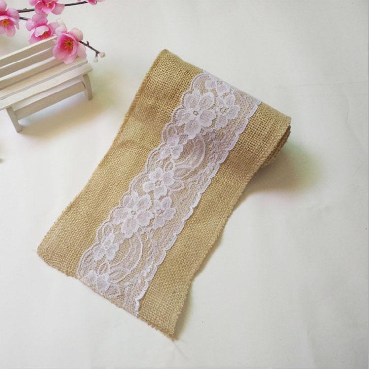The New Chair back decoration lace Burlap roll superior quality Decorative seatback Wedding christmas party decor Gift wrapping