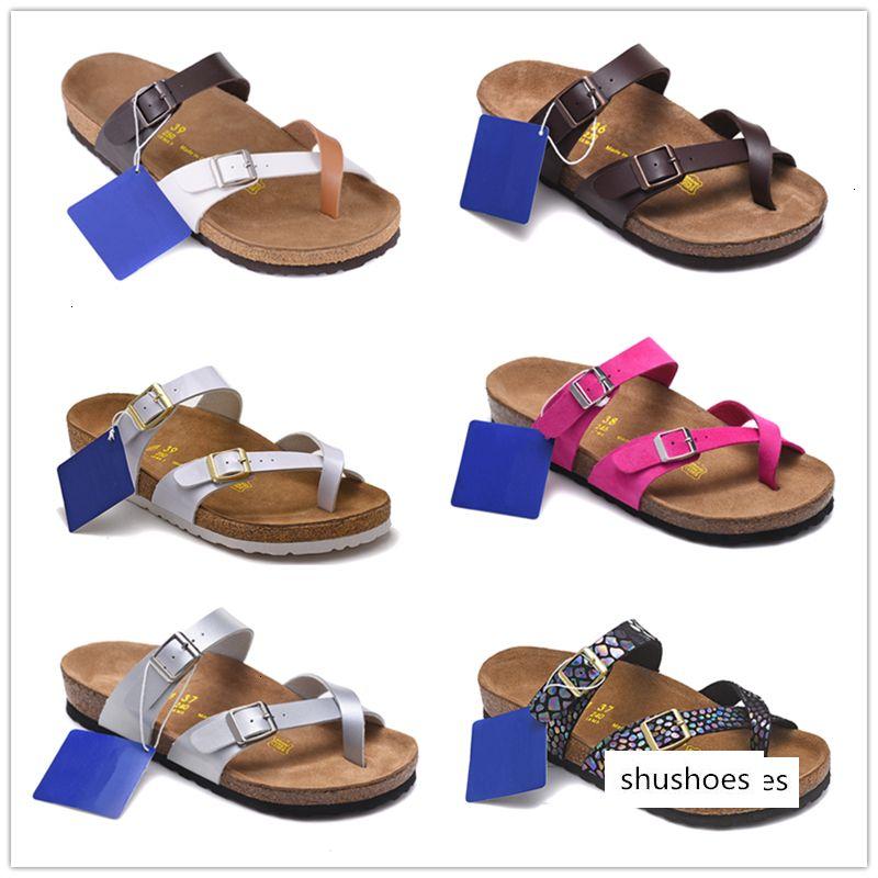 Arizona Mayarí playa del verano del corcho del deslizador de los fracasos de tirón mujeres de las sandalias hombres de color Diapositivas Zapatos ocasionales planos EUR 34-46