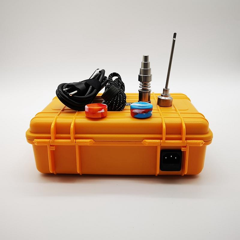 Contrôleur de température de bobine D E Nail Antidéflagrant Electric Box D ongles Nail Dab E Kit Controller Cire Vaporisateur pour Accessoires fumeurs