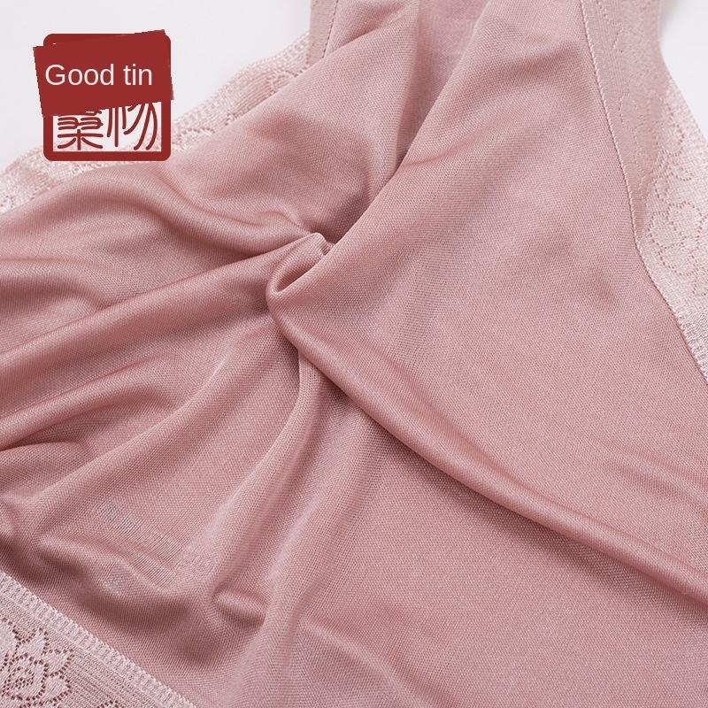 dentelle de soie en tricot de breifs femmes NUOVy thermofusibles sous-vêtements de soie réelle Sous-vêtements en dentelle transparente