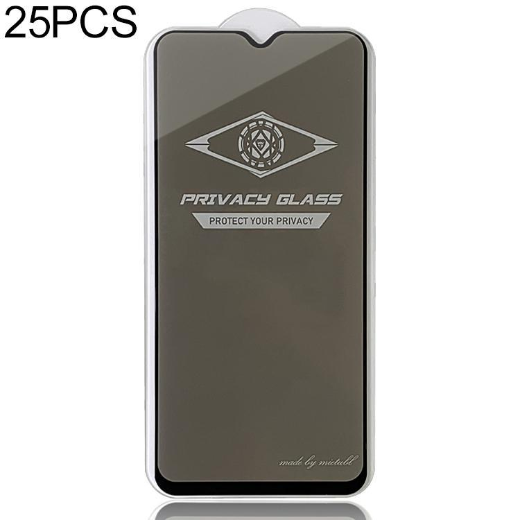 25 PCS MIETUBL Für OPPO F11 Anti-Glare-Vollbild-ausgeglichenen Glas-Film
