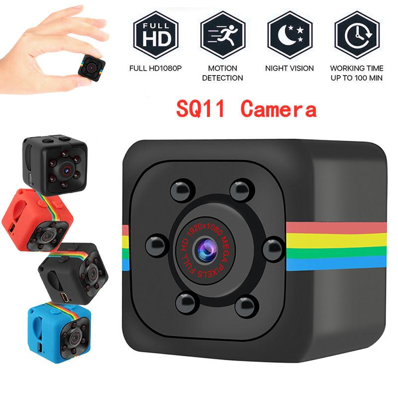 SQ11 Full HD 1080P Миниальная камера Ночное видение Видеокамера Портативные микрофонные камеры видеокамеры DV видеокамера (не включают TF Card)