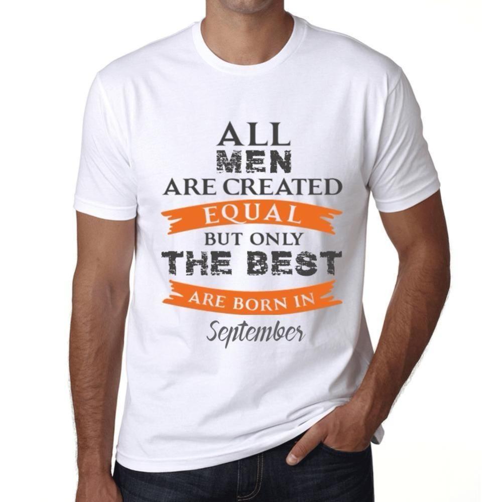 2020 nueva llegada de los hombres de moda de septiembre Sólo el mejor nacen en septiembre Uomo de Maglietta Grigio Camiseta