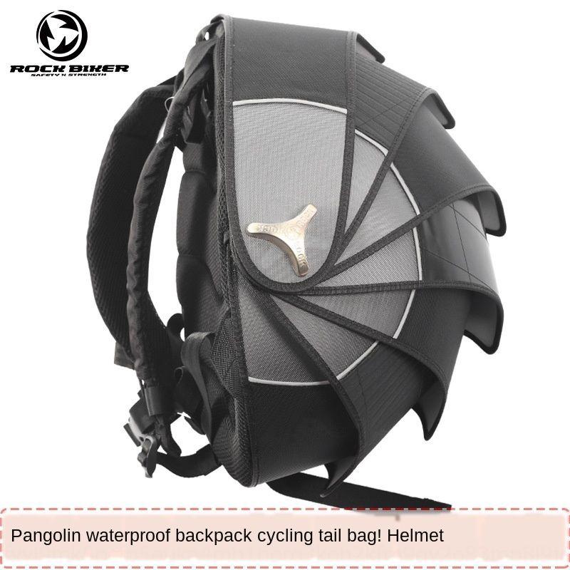 ROCK BIKER helmet men's riding Motorcycle backpack Waterproof backpack Knight motorcycle pangolin tail bag waterproof bag
