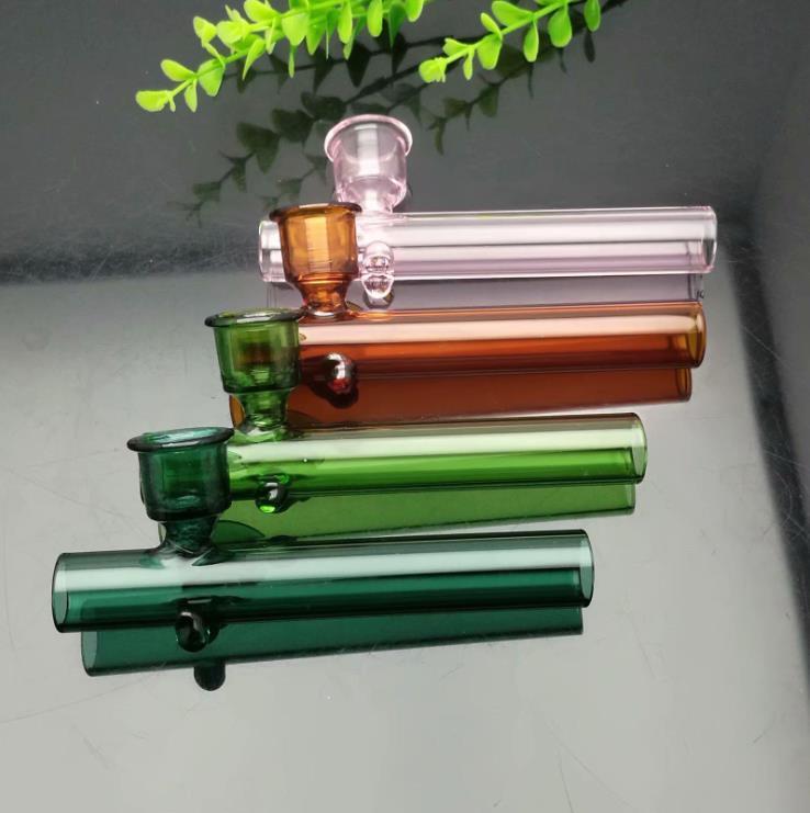 nouvelle Europe et le tuyau Americaglass barboteur fumant eau Glass pipe en verre avec de évasement couleur