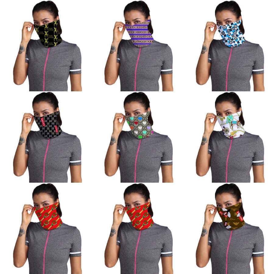 Q1B6K Femmes Foulard Visage Masque 38 Mouchoir coton en mousseline de soie Styles d'extérieur coupe-vent demi-visage antipoussière CONCEPTEUR Sc de masques # 753 Pare-soleil