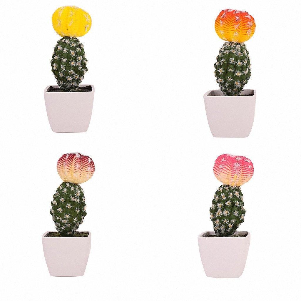 Simüle Saksı Cactus Yapay Yeşil Bitki Saksı Çiçek Sanatı Ana Sayfa Otel Dekor Danışma Yapay Bitkiler C30306 dlGZ #
