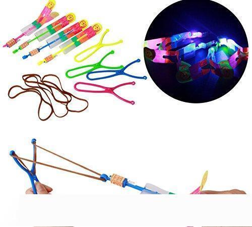 Nouveauté incroyable vol flèche de lumière Rocket Hélicoptère volant Jouet Party Fun cadeau Gow clignotant élastique des jouets chirstmas conduit jouets volants