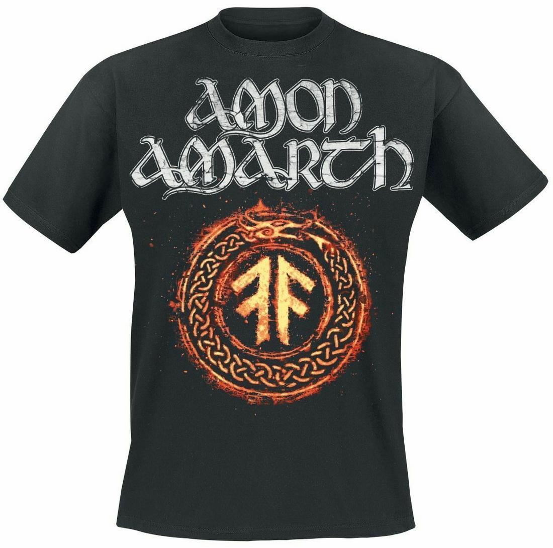 Amon Amarth The Pursuit Of Vikings Tops T-shirt T Camisetas preto Impresso Plus Size