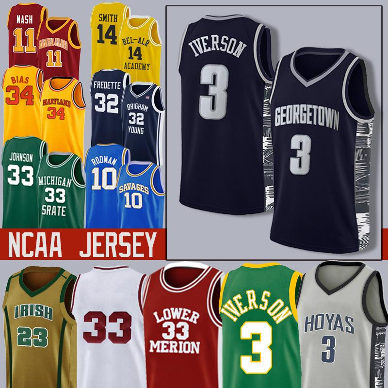 66-NCAA LeBron Durant 12 Ja 23 NCAA Williamson Sion Michael Morant Doncic Iverson Curry Butler Harden College Basketball Maglie
