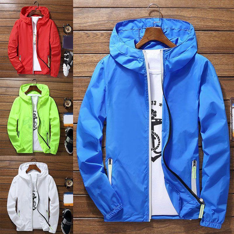 Männer Frauen Dünne reflektierende Kapuzenjacke Ultra-light wasserdichte Outwear Windjacke Mantel Sport Zipper Sonnenschutz plus Big Size 6XL
