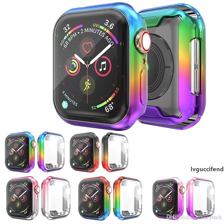 Case Cover per Apple vigilanza di banda 44 millimetri / 40mm mela 5 4 3 bande protezione dello schermo 42 millimetri / 38 millimetri iWatch TPU paraurti protettivo