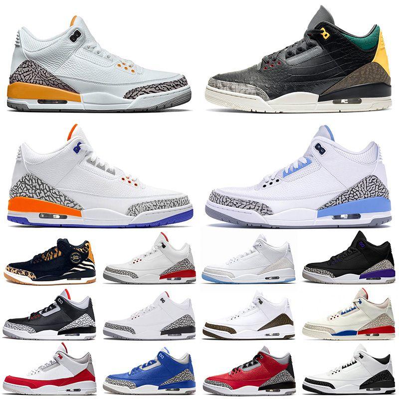 Nike Air Jordan Retro 3 3s off white basketball shoes Zapatillas de deporte originales JUMPMAN Animal Instinct Zapatillas de baloncesto hombre Knicks Rivals Red Cement Trainers