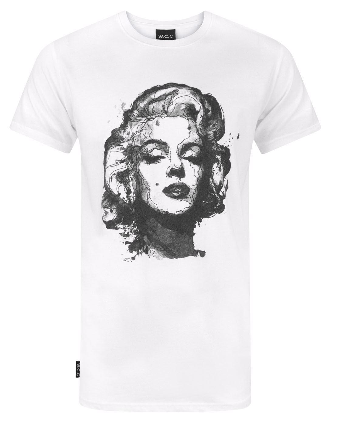 W.C.C Pin Up Fan Art Monroe T-shirt com palangre Inspirado Tops verão fresco Funny T-Shirts