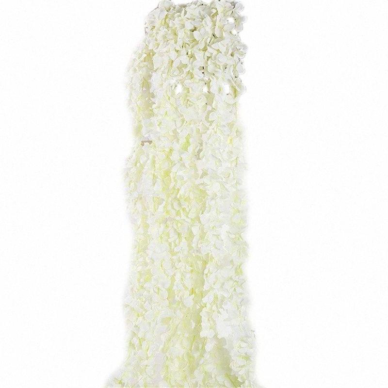 Çiçekler Garland Ev Açık Düğün Arch Bahçe Duvarı Dekoru, 10 Paketi (Beyaz) Asma Yapay İpek Wisteria Vine 5v83 #