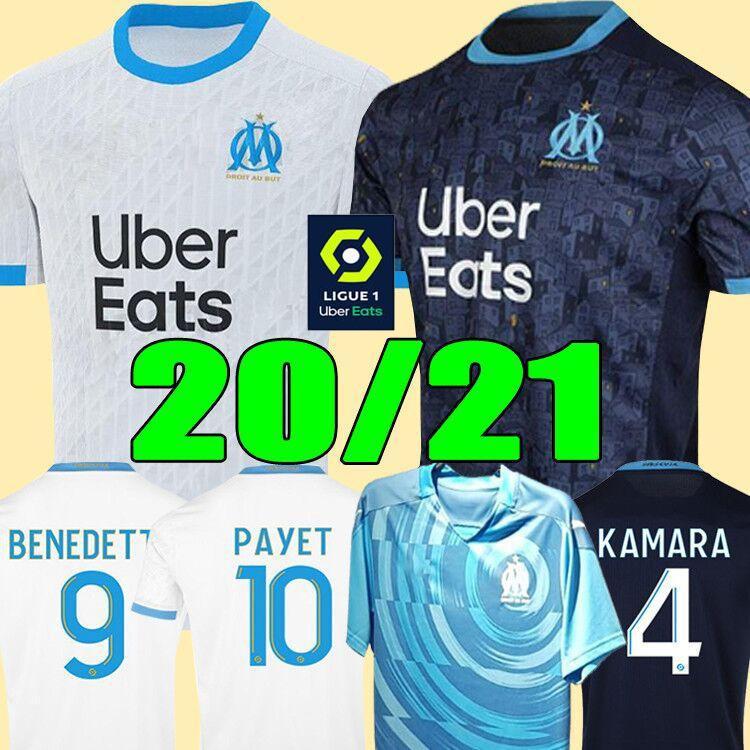 19 20 Olympique de Marseille Fußballtrikot OM Trikots 2019 2020 Fußballtrikot PAYET THAUVIN 120 Jahre Fußballtrikot 120 Jahre Jubiläum