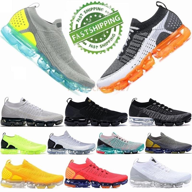 2020 Fly 2.0 Erkekler Kadınlar Eğitmenler Moc Orca Üçlü Siyah Beyaz Buhar Safari Maxess Top Spor Spor Ayakkabılar için 3.0 Yastık Koşu Ayakkabı Örgü