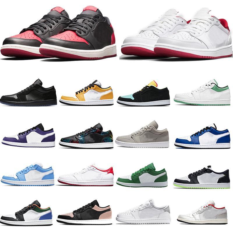 ولدت JUMPMAN 1 منخفضة OG شيكاغو متعدد اللون رمادي الضباب الأحمر أوربت المحكمة بنفسجي وردي كودري إمرأة رجل كرة السلة أحذية رياضية مع صندوق