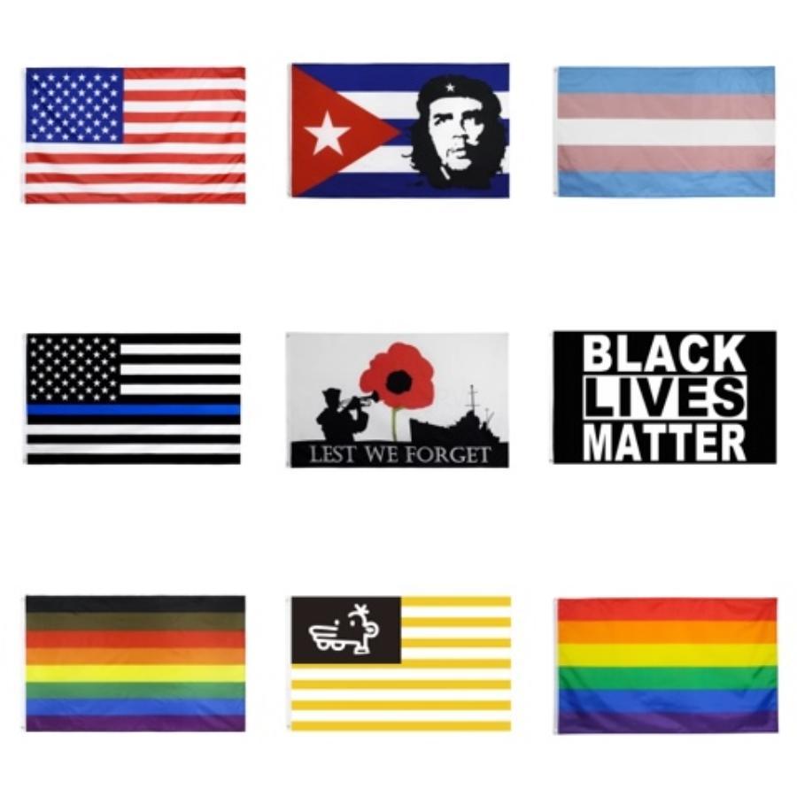 90 * 150cm Donald Trump 2020 Bandiere 3 * Bandiere 5FT presidente americano di elezione Tenere Flags America drappellone giardino # 418