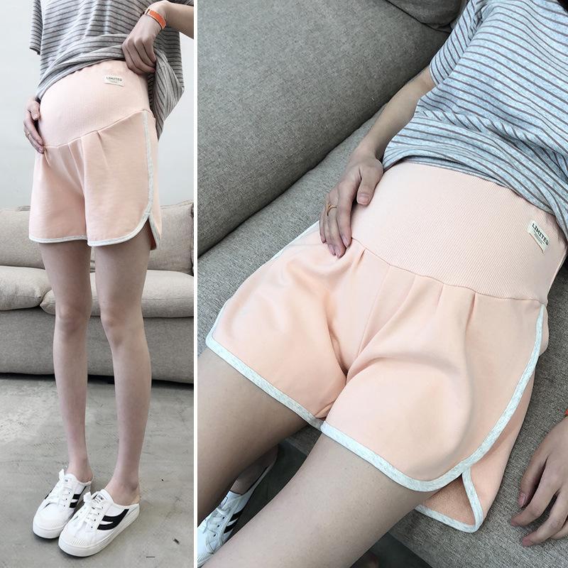 봄과 여름 새로운 패션면 느슨한 레저 스포츠 스타일 임신 3 점 위 리프트 짧은 임신 한 여성 바지