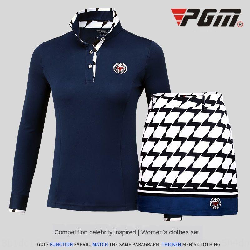 PGM женский гольф футболки топ с длинными рукавами осенью и зимой футболка гольф одежда Одежда верхняя женская одежда gMqm9