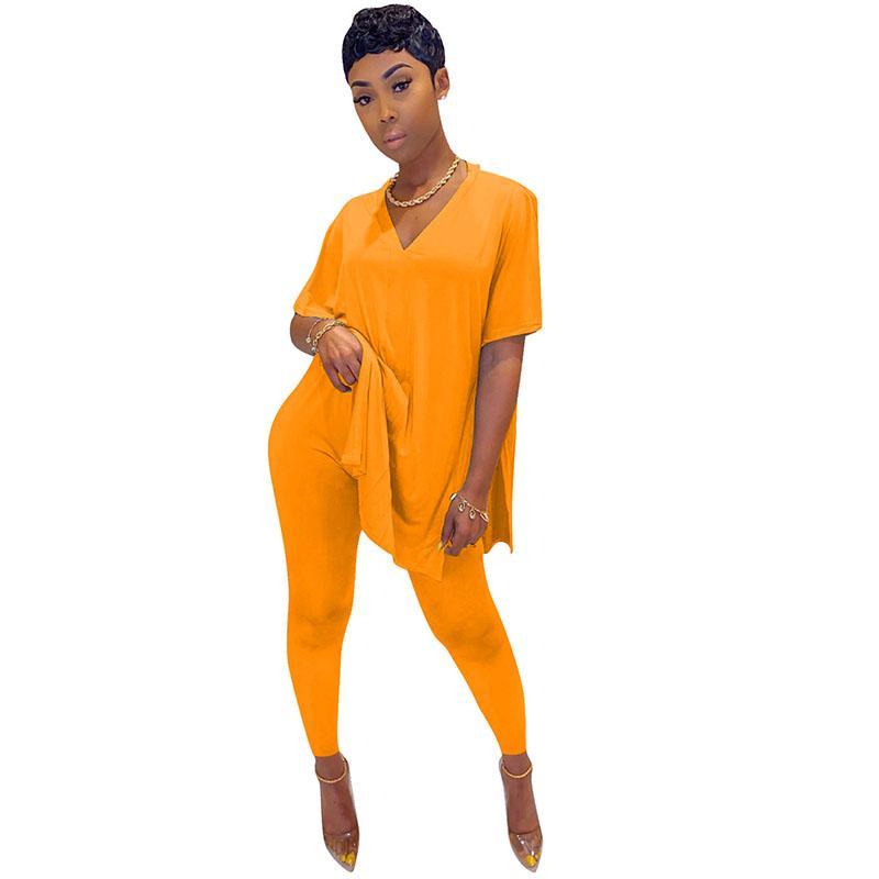 İki Parça Pantolon Seti Kadınlar Giyim Yaz Oversize T Shirt ve Tozluklar Seti Casual Eşofman 2 Piece Kadınlar için Kıyafetler ayarlar