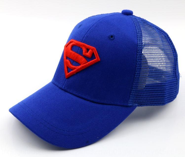 F112 yeni güneş İşlemeli beyzbol Superman nakış çocuk beyzbol şapkası moda net kapağı güneşlik